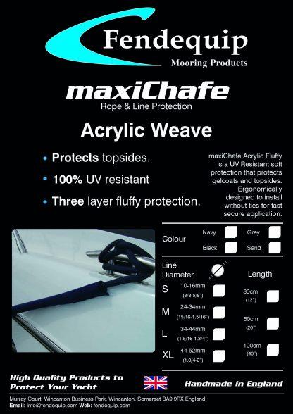 maxiChafe, Fendequip, Acrylic Weave, Yacht, Super Yacht, Boat, Ship, UK, UK Manufactured