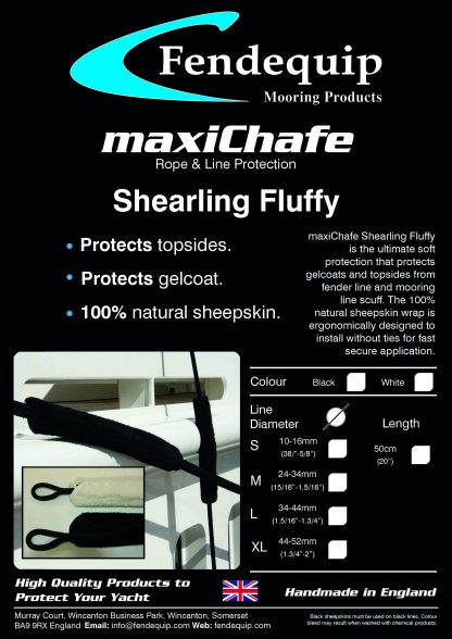 maxiChafe, Fendequip, Shearling Fluffy, Yacht, Super Yacht, Boat, Ship, UK, UK Manufactured
