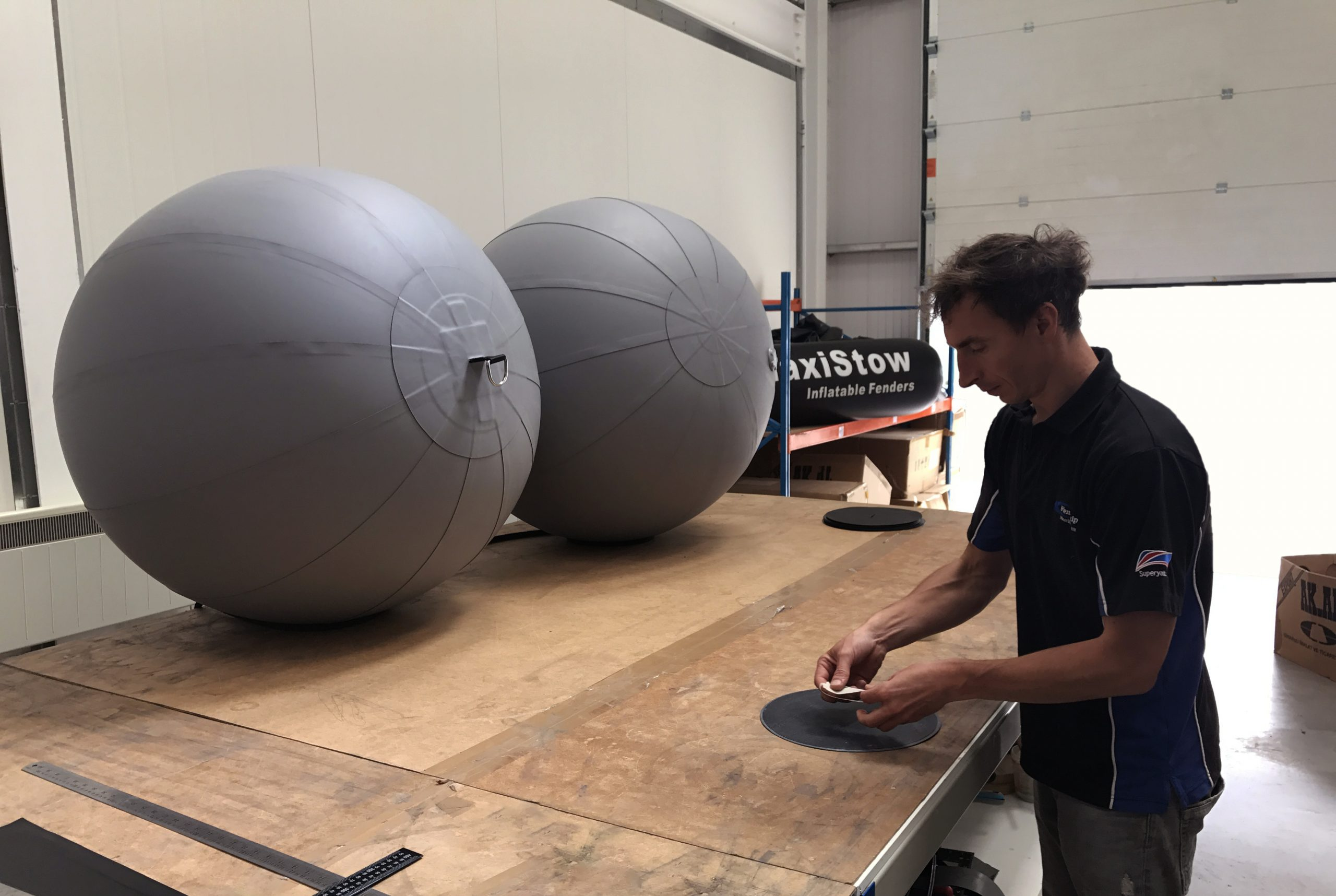 Fenders, Inflatable Fenders, maxiStow, PVC, Hypalon, PU, UK, UK Manufactured, Ship, Yacht, Super Yacht, Boat, Marine, Chafe Covers, Yacht, Ship, Boat, Super Yacht, Fendequip, Boat Protection, UK, UK Manufactured